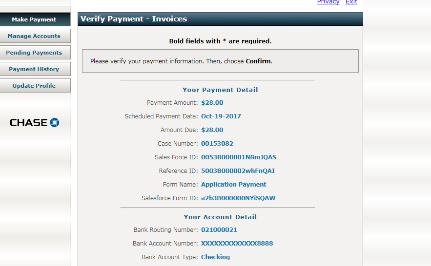 Online Payments Using JP Morgan Pay Connexion